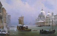Ippolito Caffi - Venezia con la neve