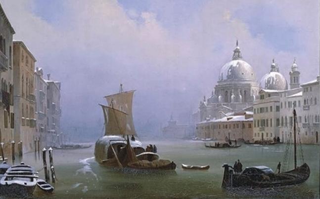 Ippolito-Caffi venezia-con-la-neve
